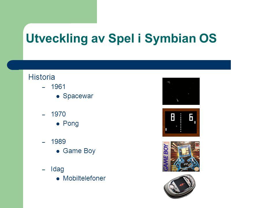 Vad är datorspel? – Roliga – Utmanande – Involverande – Multiplayer Utveckling av Spel i Symbian OS