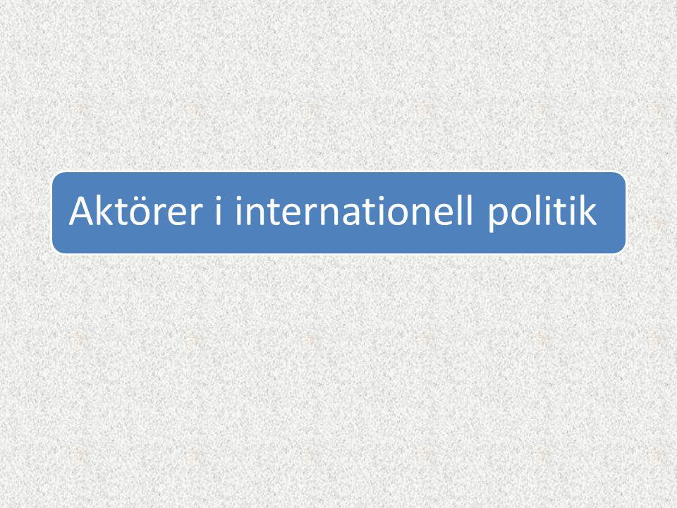Aktörer i internationell politik