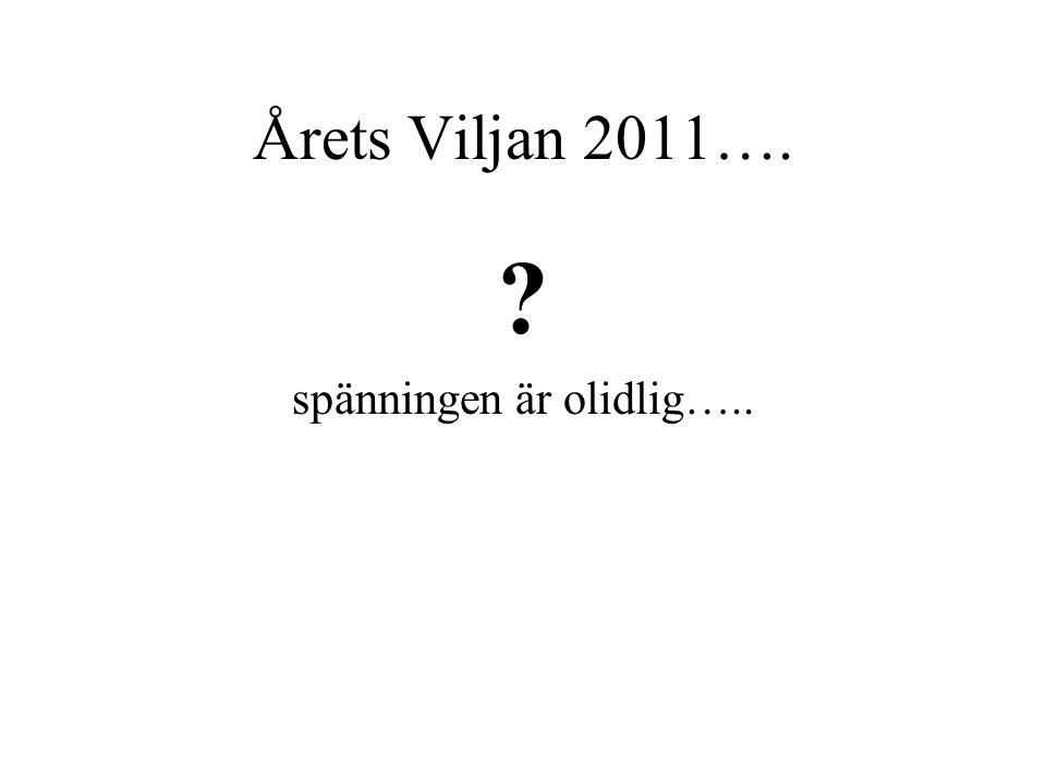 Årets Viljan 2011…. ? spänningen är olidlig…..