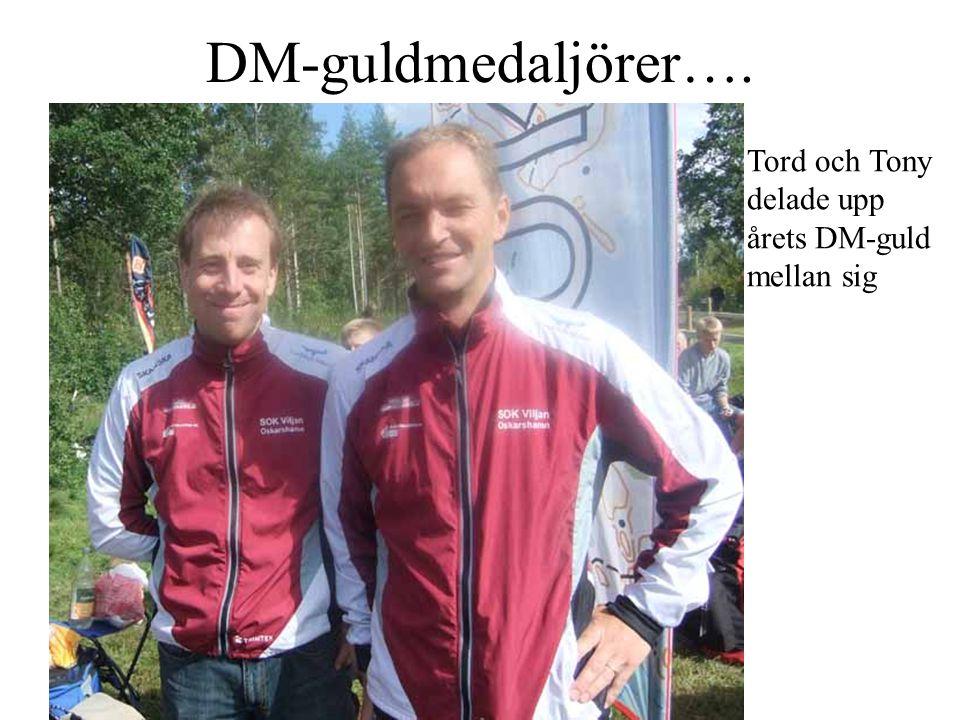 DM-guldmedaljörer…. Tord och Tony delade upp årets DM-guld mellan sig