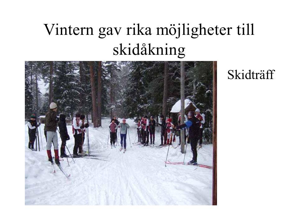 Vintern gav rika möjligheter till skidåkning Skidträff