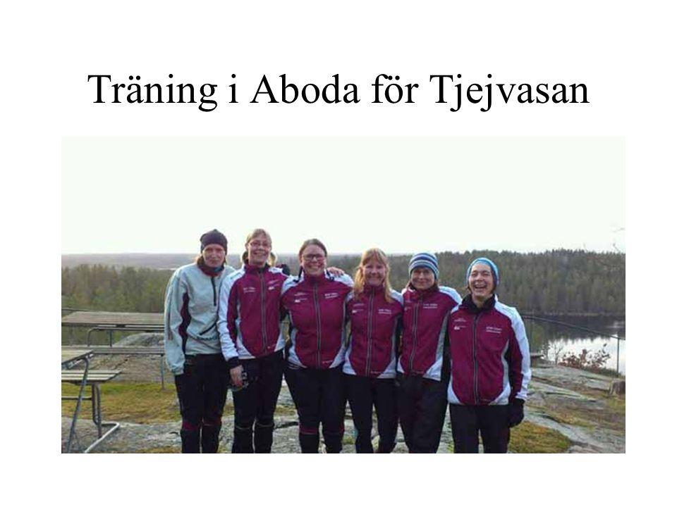 Träning i Aboda för Tjejvasan