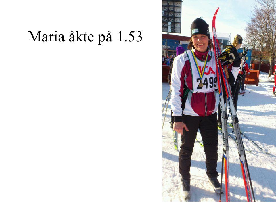 Maria åkte på 1.53