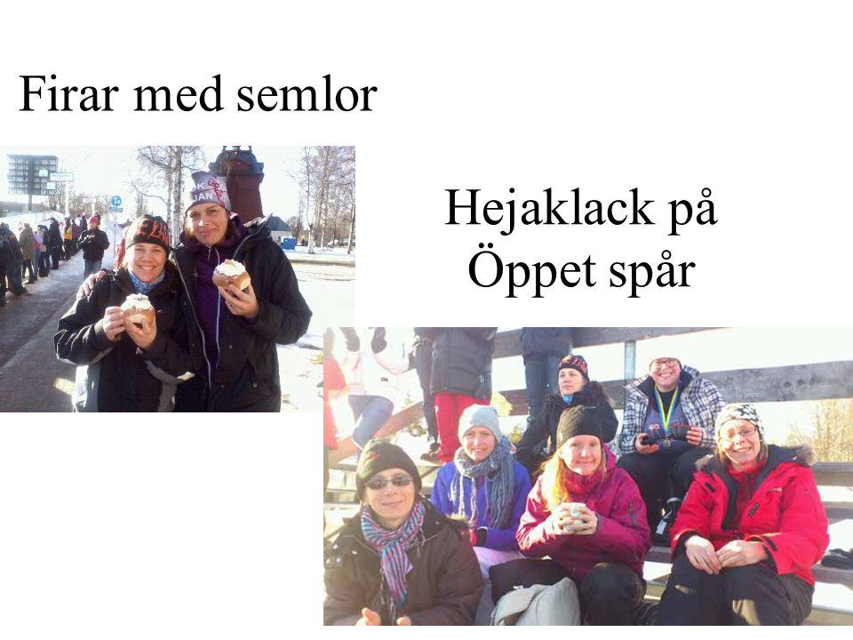 Firar med semlor Hejaklack på Öppet spår