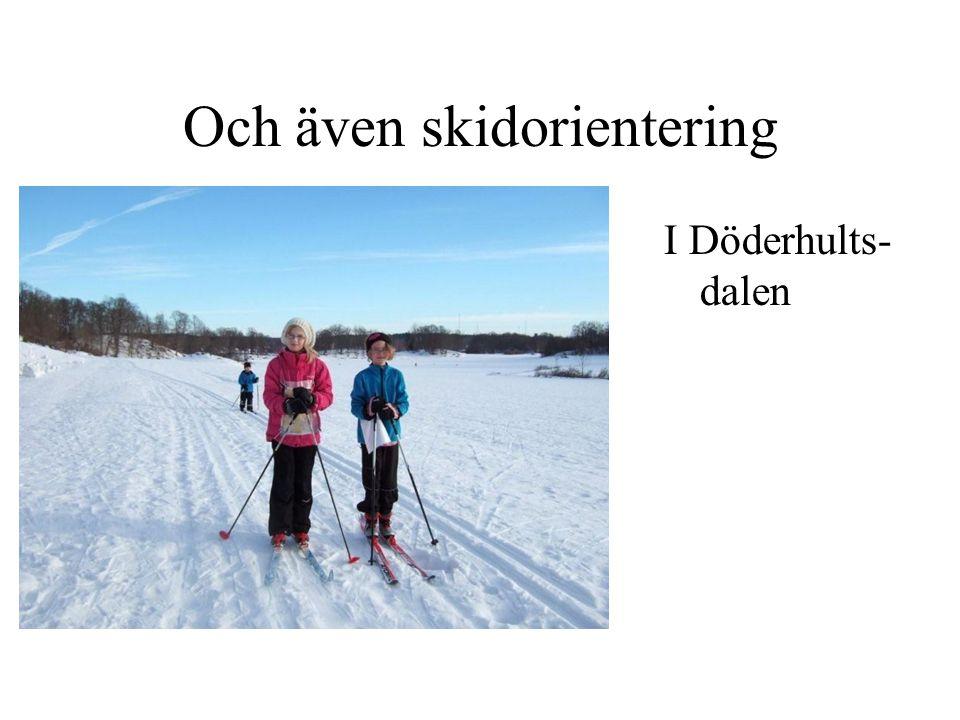 Och även skidorientering I Döderhults- dalen