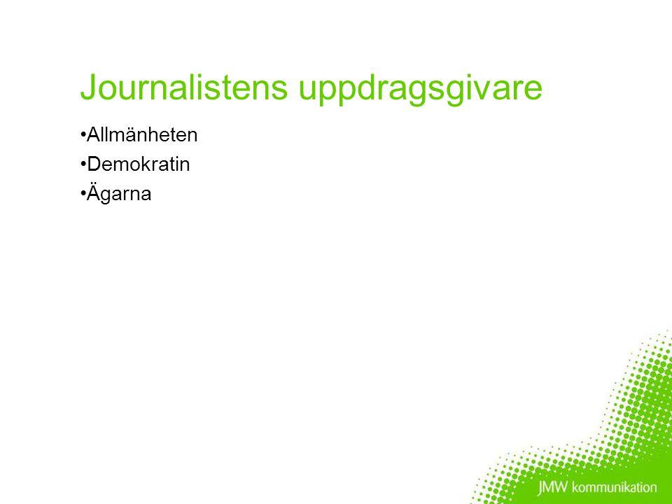 Journalistens roll Informera Analysera Kommentera Kritiskt granska