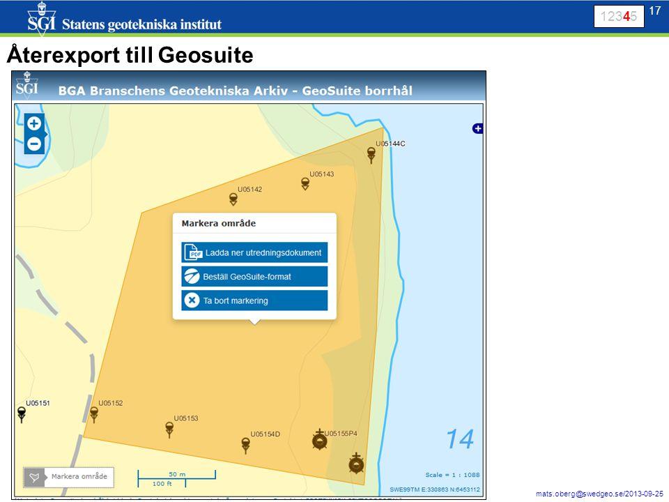 17 mats.oberg@swedgeo.se/2013-09-25 17 Återexport till Geosuite 12345