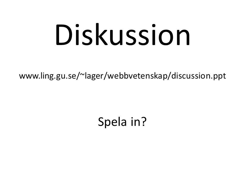 Happenings Webbvetenskapliga dagar Webbdagarna i Göteborg (http://www.webbdagarna.se/)http://www.webbdagarna.se/ IT-mässor