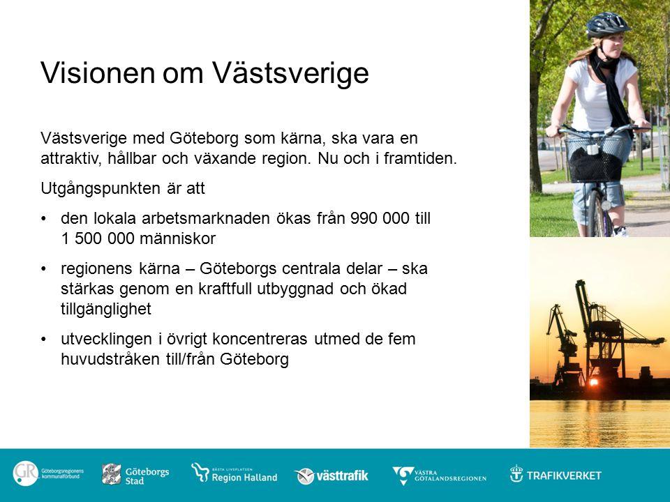 Visionen om Västsverige Västsverige med Göteborg som kärna, ska vara en attraktiv, hållbar och växande region.