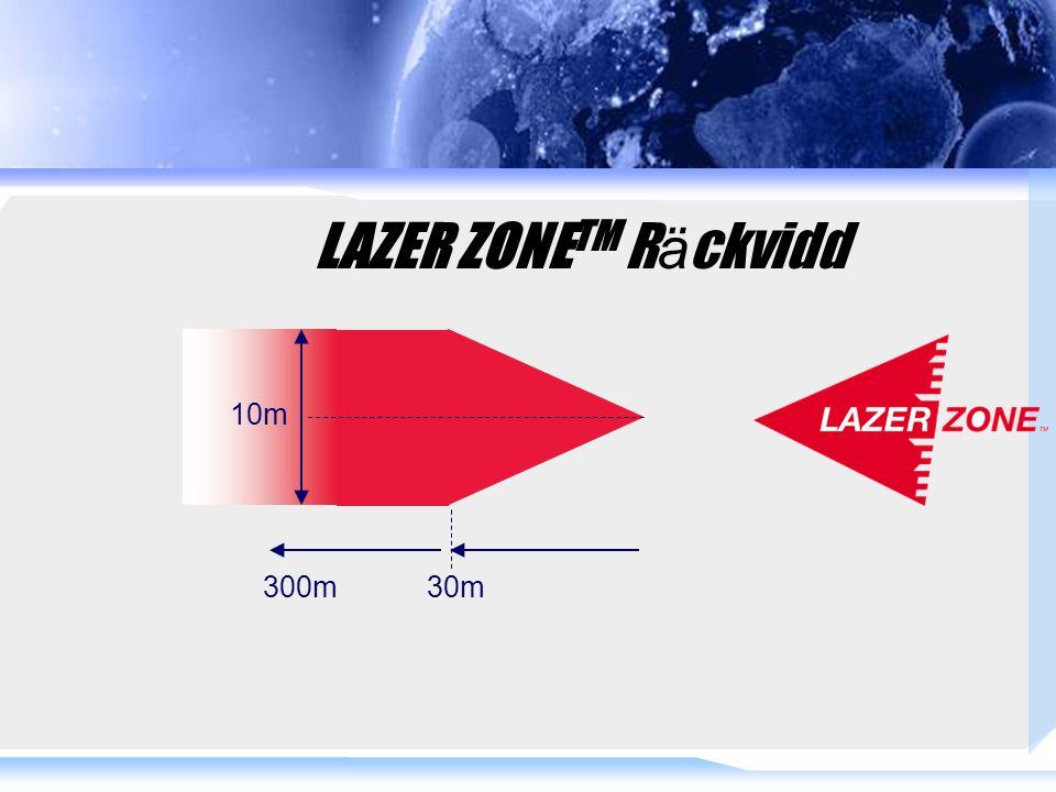 LAZER ZONE TM R ä ckvidd 30m300m 10m