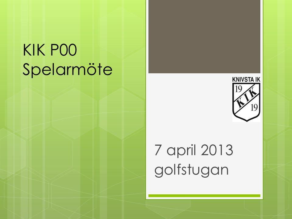 7 april 2013 golfstugan KIK P00 Spelarmöte