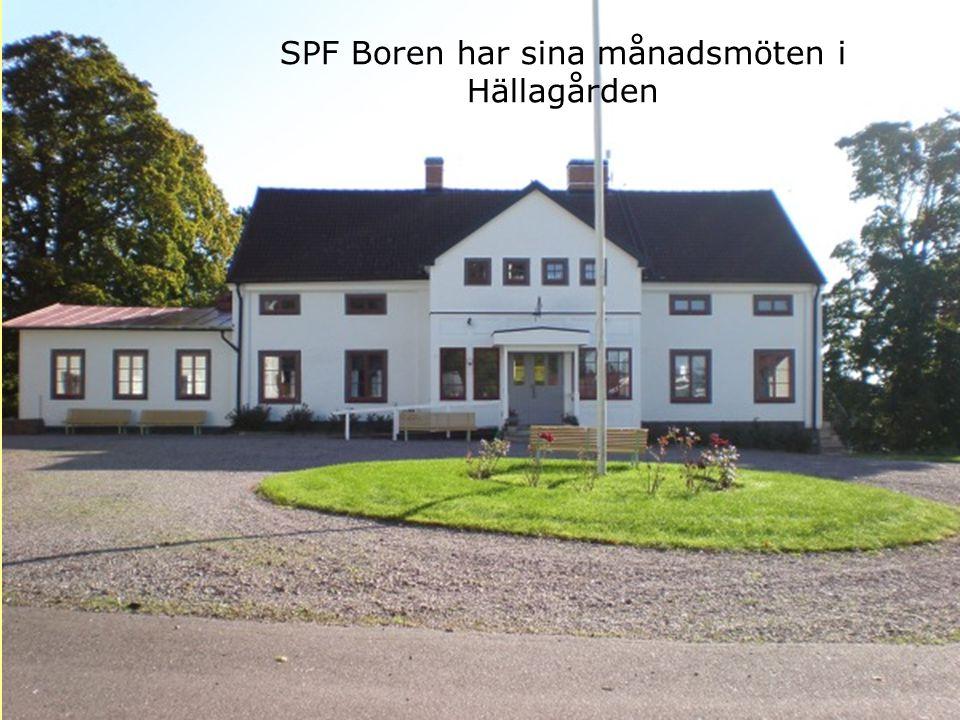 SPF Boren har sina månadsmöten i Hällagården