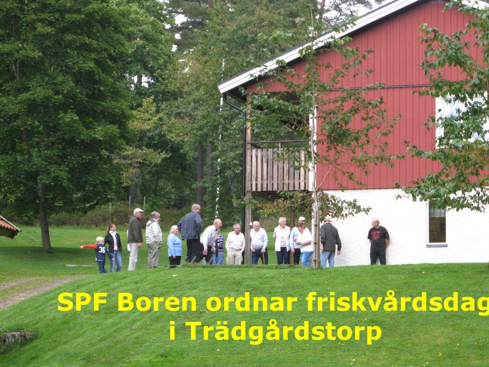 SPF Boren ordnar friskvårdsdag i Trädgårdstorp