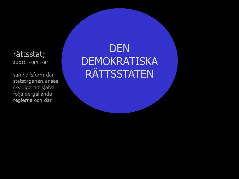 DEN DEMOKRATISKA RÄTTSSTATEN