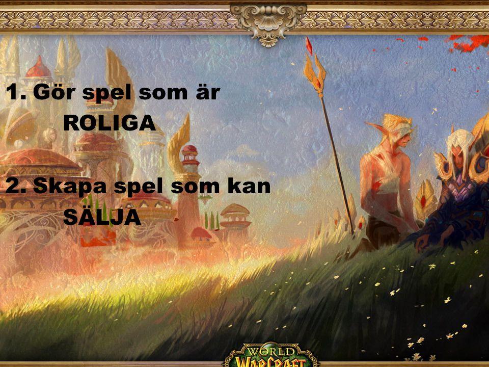 1.Gör spel som är ROLIGA 2.Skapa spel som kan SÄLJA