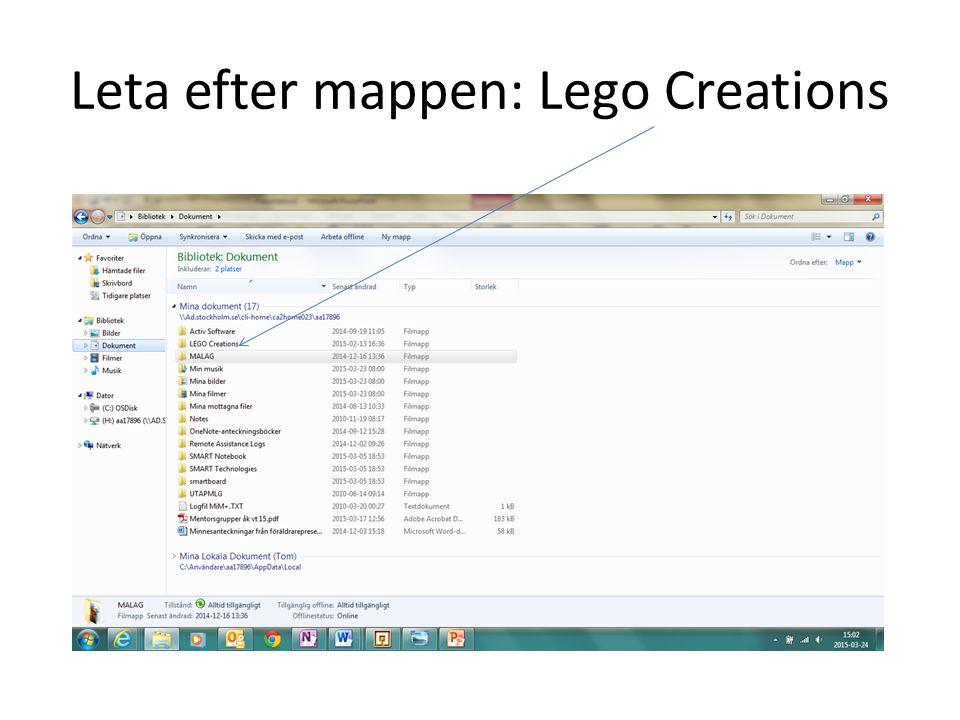 Leta efter mappen: Lego Creations