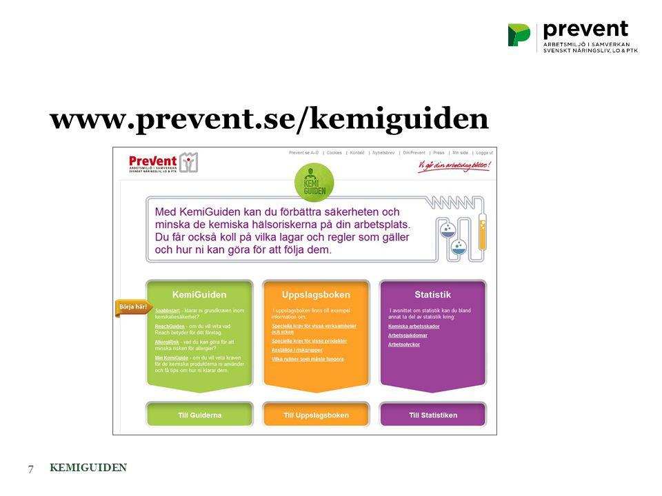 KEMIGUIDEN7 www.prevent.se/kemiguiden