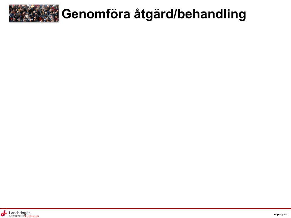 Qulturum Bergeling 2014 Genomföra åtgärd/behandling