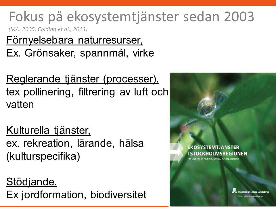Förnyelsebara naturresurser, Ex.