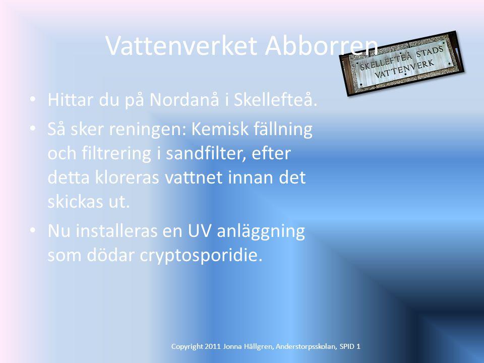 Vattenverket Abborren Hittar du på Nordanå i Skellefteå.