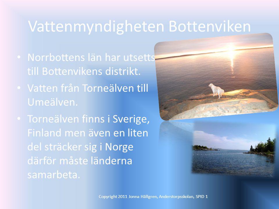 Vattenmyndigheten Bottenviken Norrbottens län har utsetts till Bottenvikens distrikt.