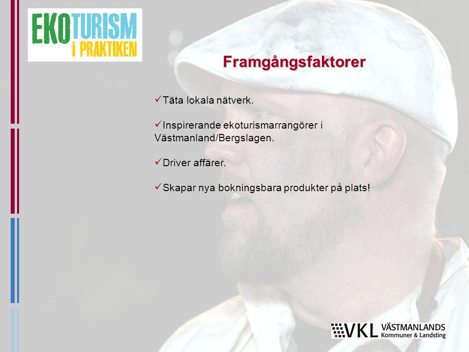 Täta lokala nätverk. Inspirerande ekoturismarrangörer i Västmanland/Bergslagen.