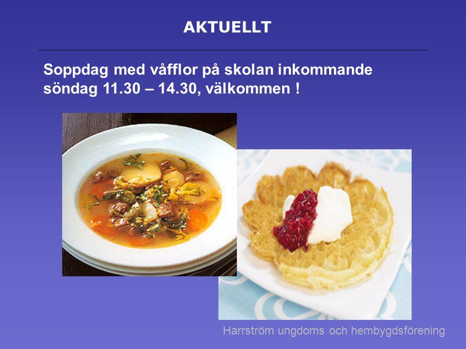 Vår- sommar- och höstprogram i Harrström 22.2 11.30-14.30 Soppdag vid Harrström skola 10.4 21.00 -02.00 Påskdans vid UF lokalen.