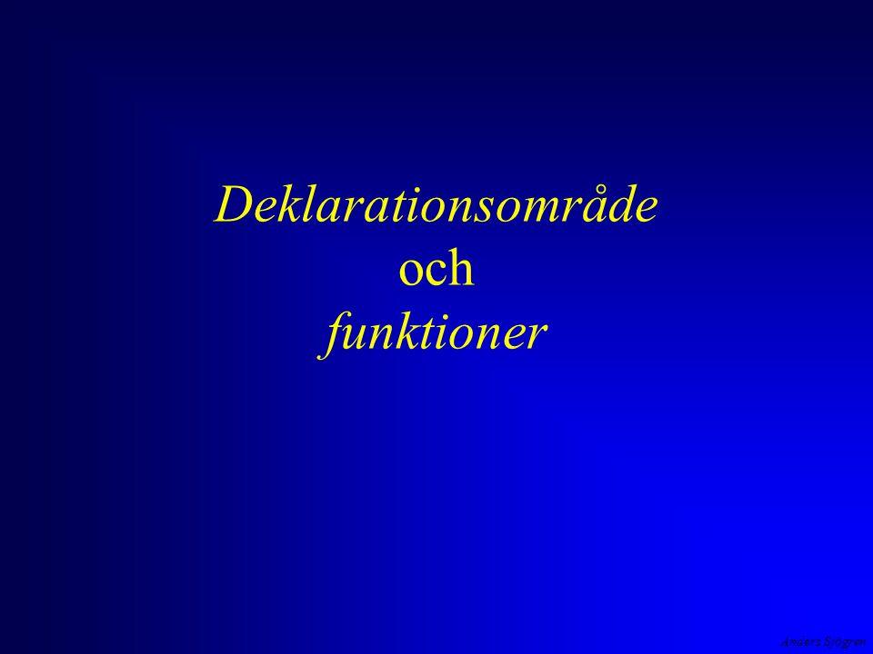 Anders Sjögren Deklarationsområde och funktioner