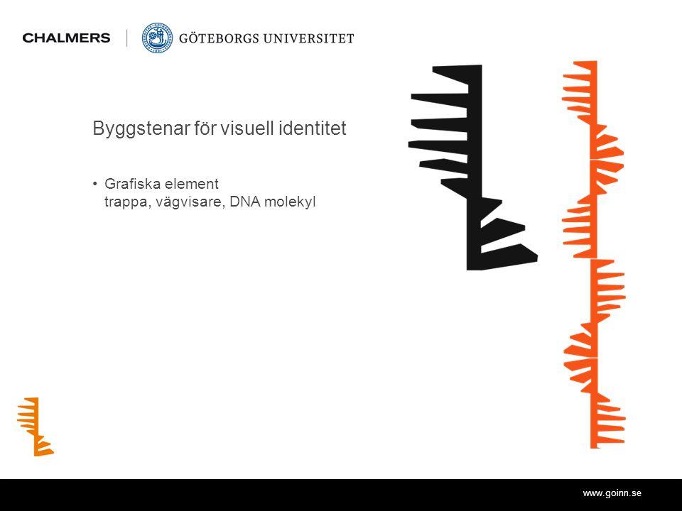 www.goinn.se Byggstenar för visuell identitet Grafiska element trappa, vägvisare, DNA molekyl