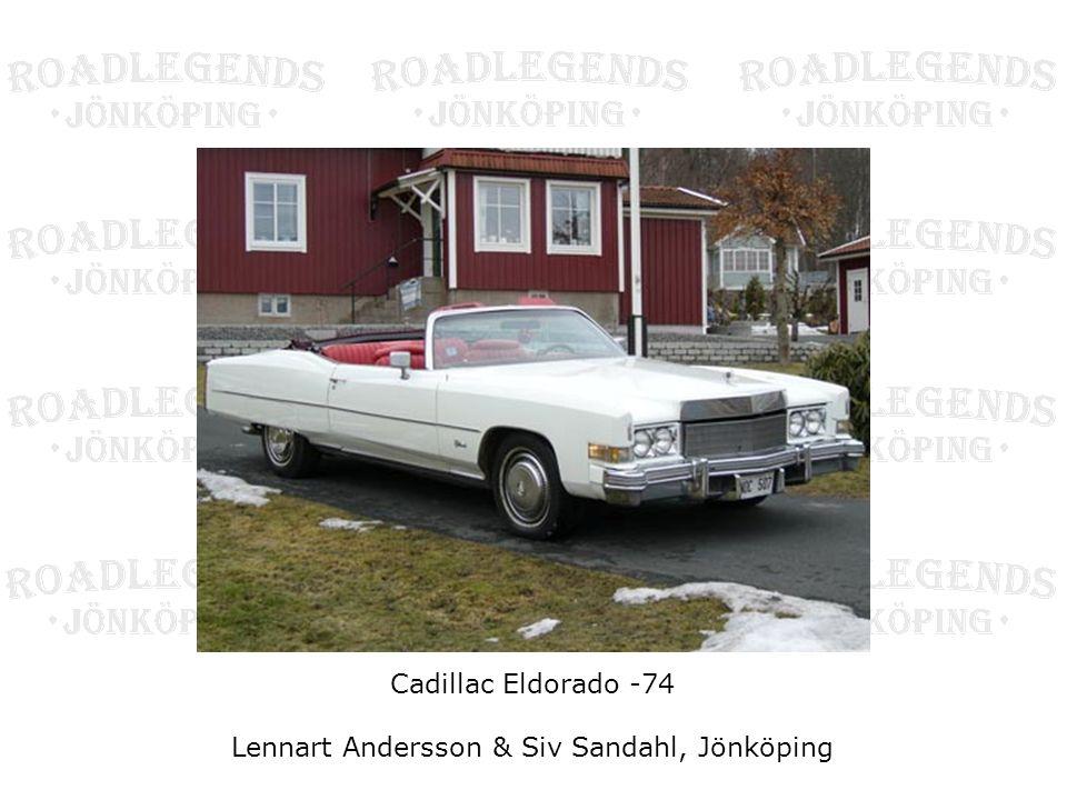 Cadillac Eldorado -74 Lennart Andersson & Siv Sandahl, Jönköping