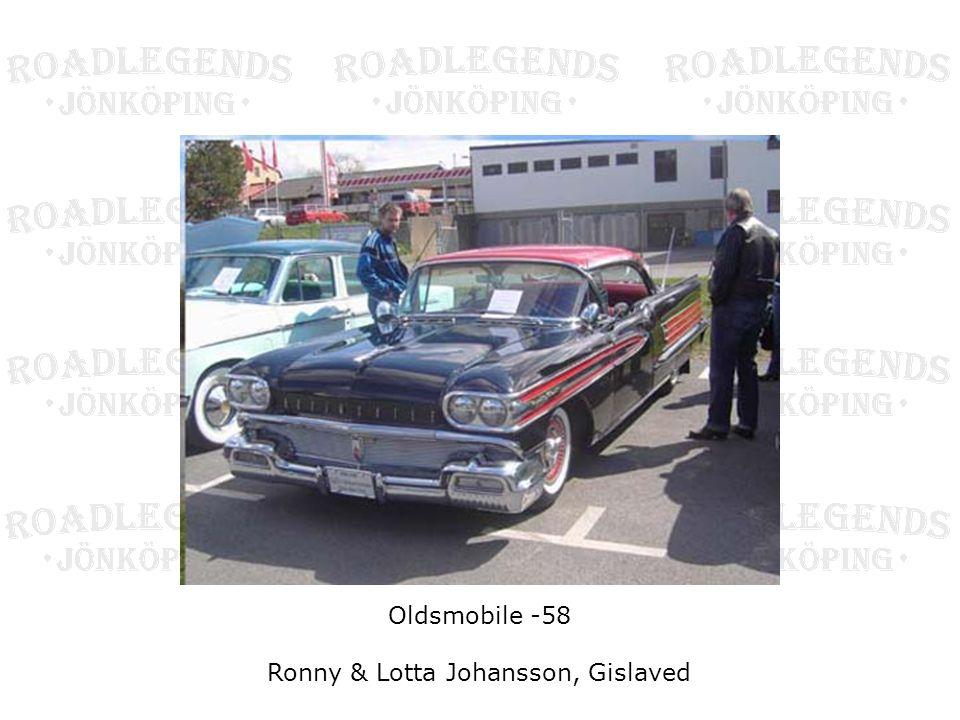 Oldsmobile -58 Ronny & Lotta Johansson, Gislaved