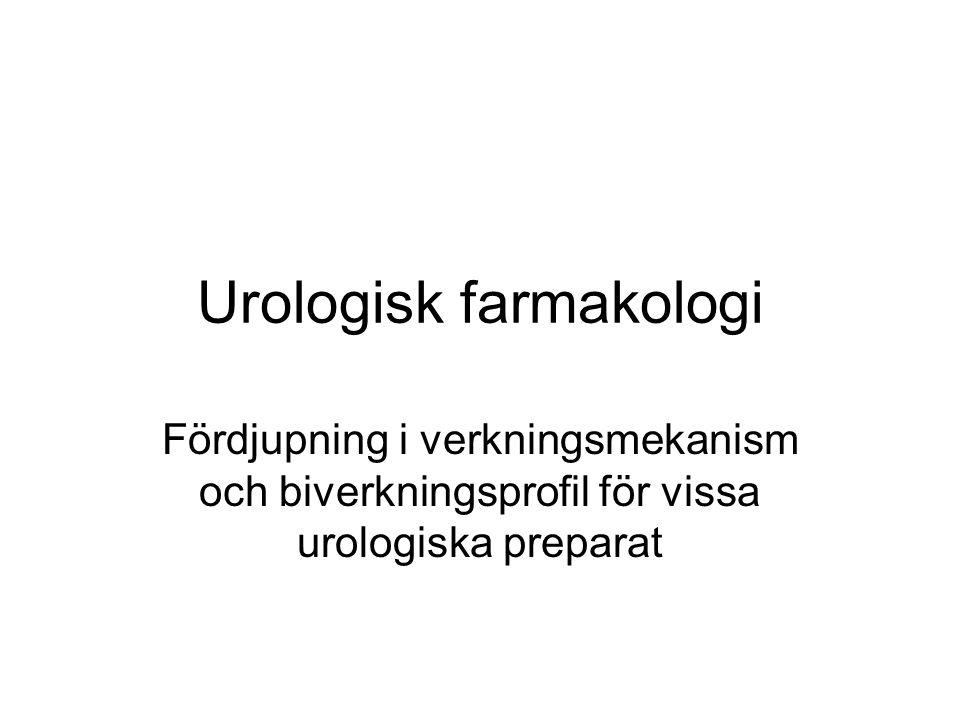 Urologisk farmakologi Fördjupning i verkningsmekanism och biverkningsprofil för vissa urologiska preparat