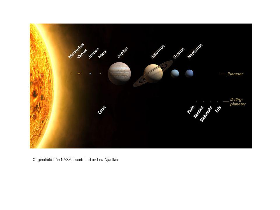 Originalbild från NASA, bearbetad av Lea Njaelkis.