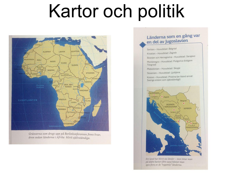 Kartor och politik