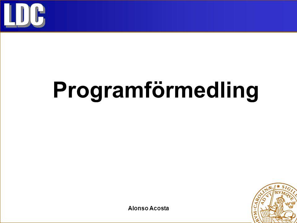 Programförmedling Alonso Acosta