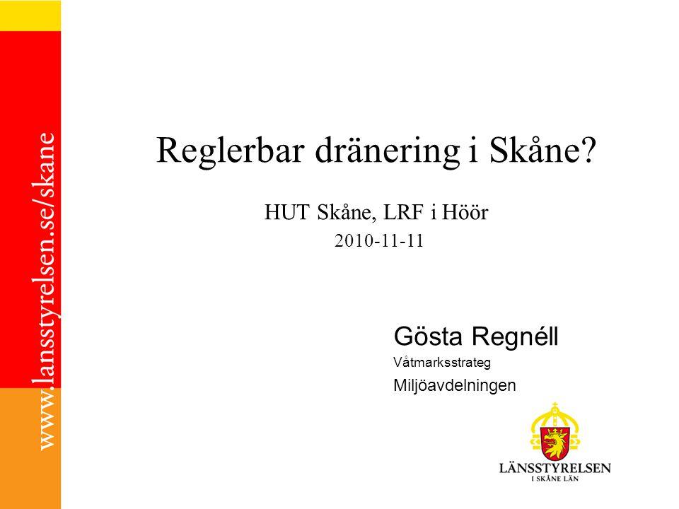 Reglerbar dränering i Skåne.
