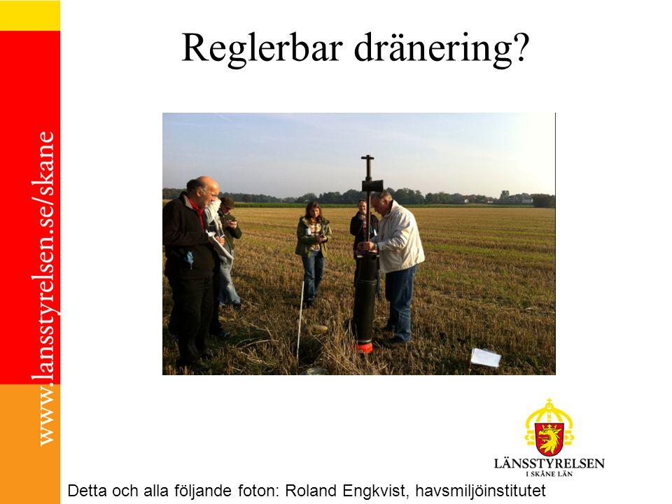 Reglerbar dränering Detta och alla följande foton: Roland Engkvist, havsmiljöinstitutet