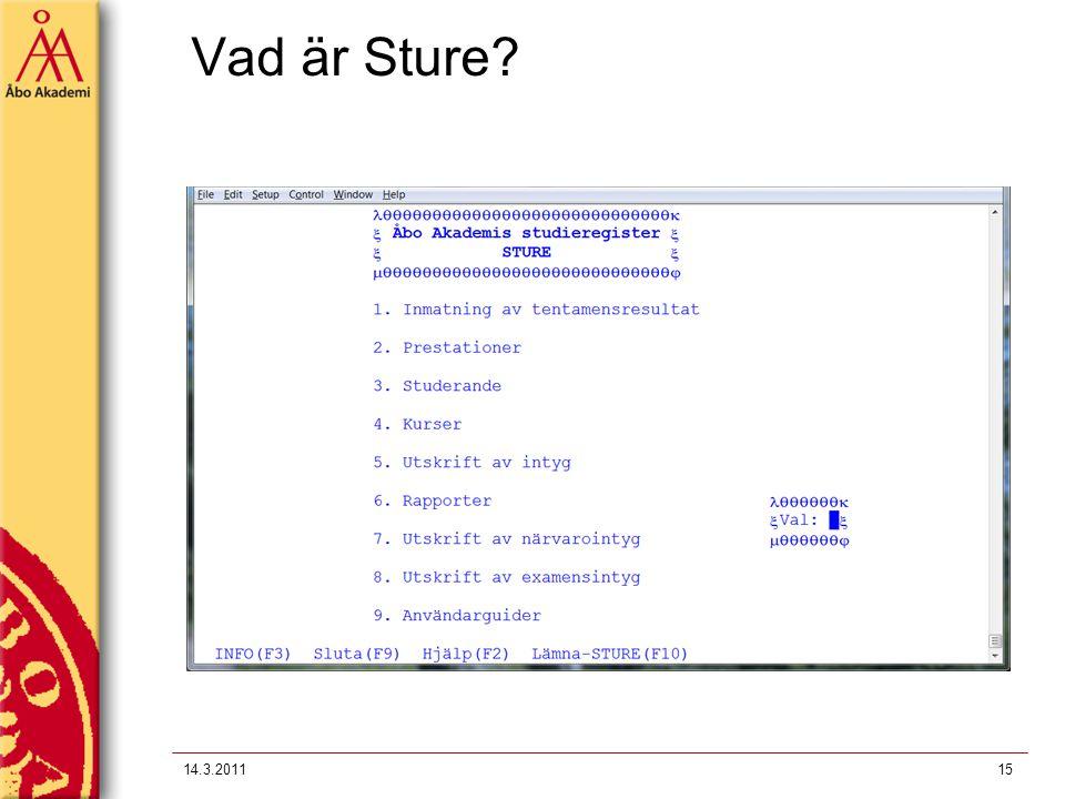 Vad är Sture? 14.3.201115