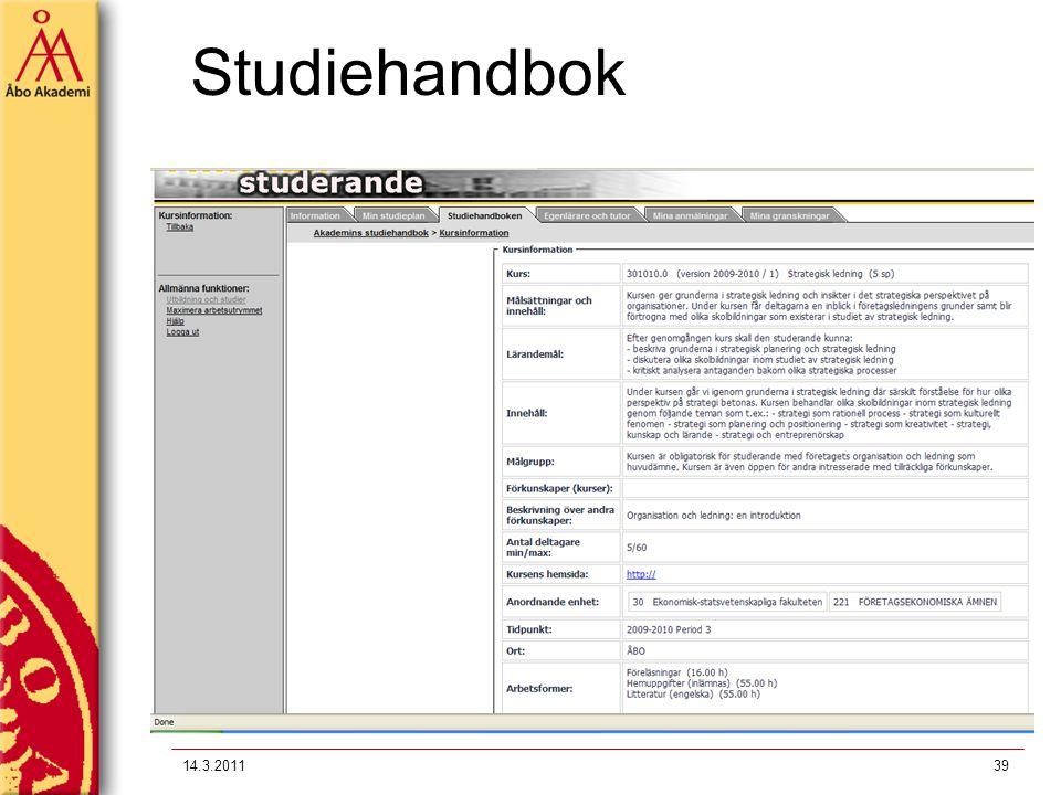 14.3.201139 Studiehandbok