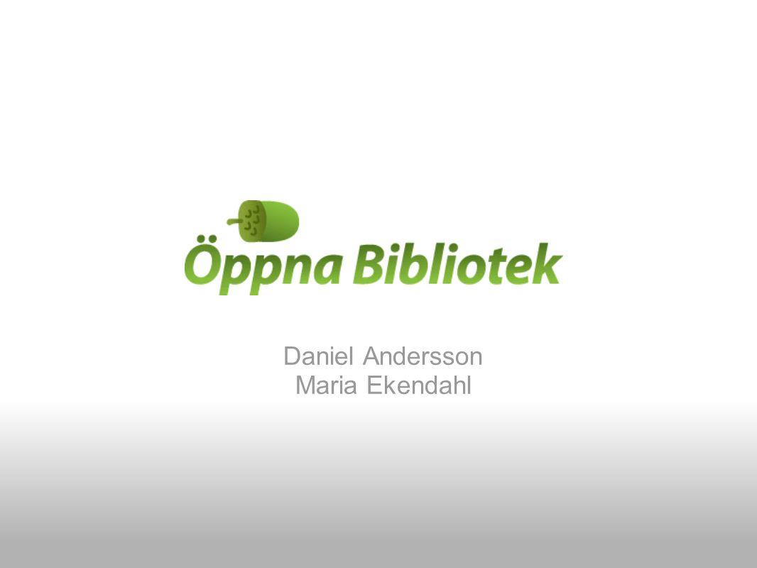 Daniel Andersson Maria Ekendahl