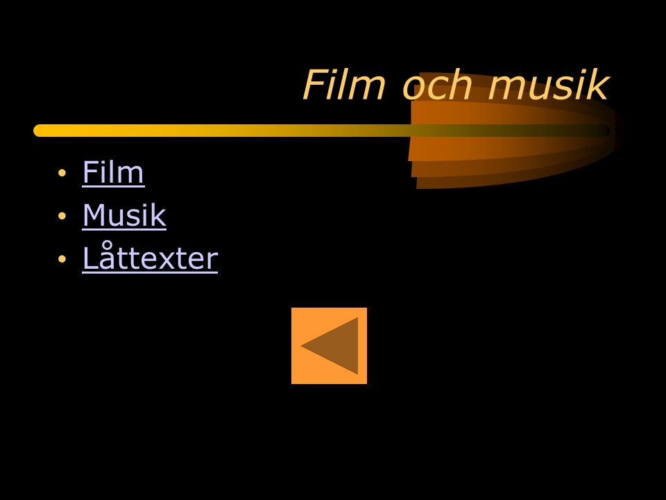 Film och musik Film Musik Låttexter