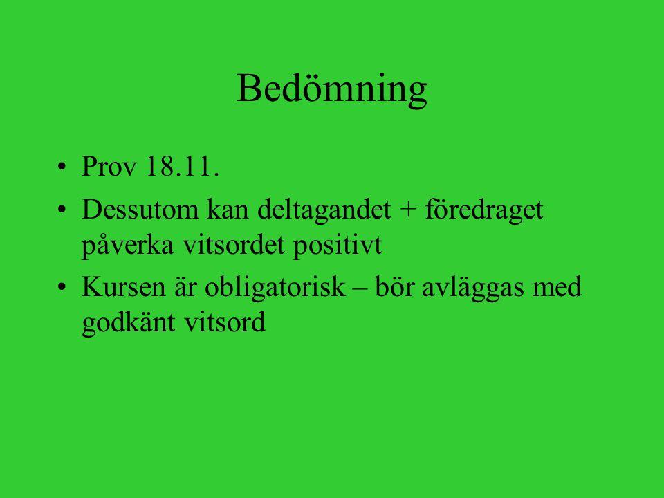 Bedömning Prov 18.11.