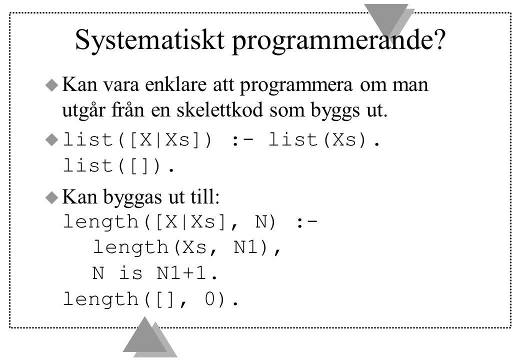 Systematiskt programmerande.
