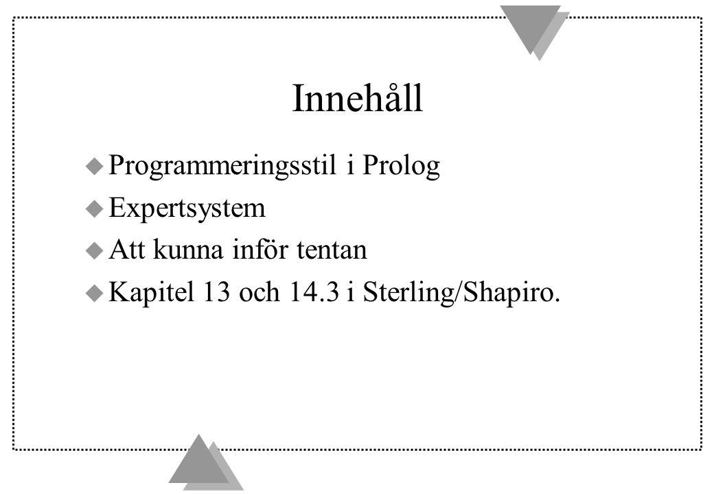 Hur ska man skriva program i Prolog.