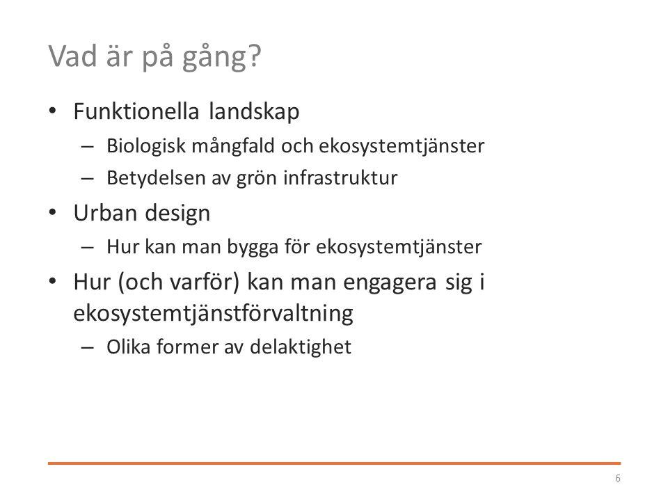 Tack! erik.andersson@su.se www.stockholmresilience.su.se erik.andersson@su.se