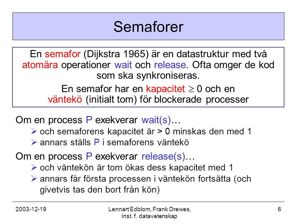 2003-12-19Lennart Edblom, Frank Drewes, Inst.f.