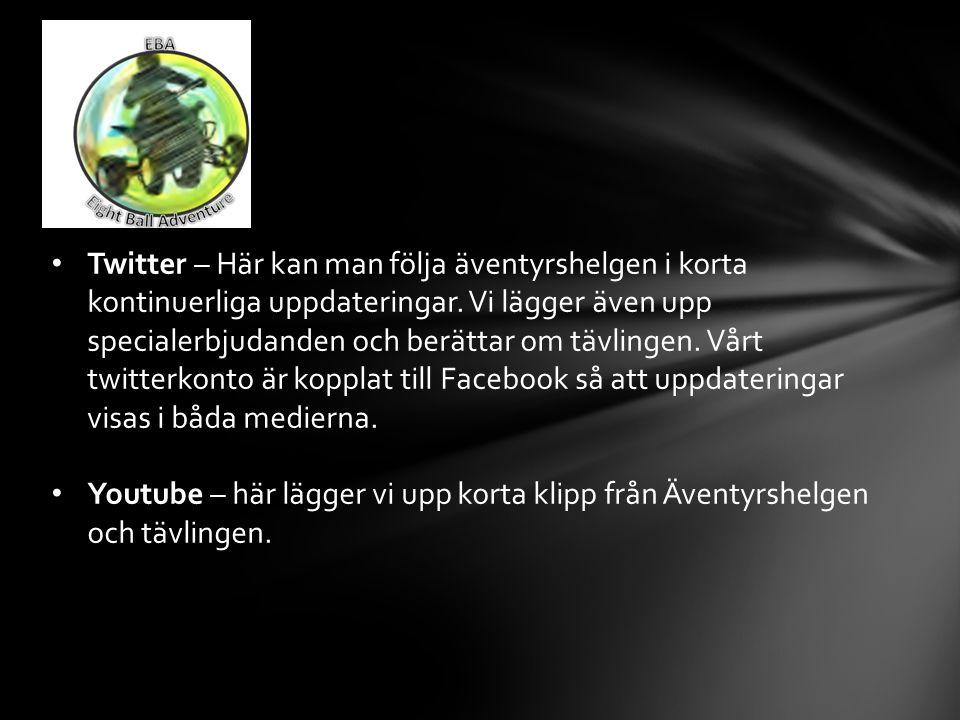 Twitter – Här kan man följa äventyrshelgen i korta kontinuerliga uppdateringar.