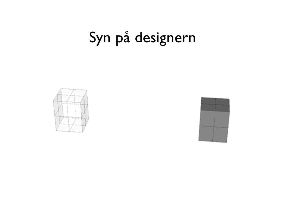 Syn på designern