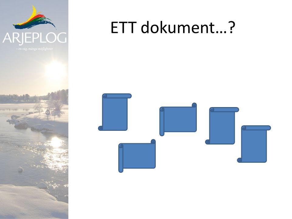 ETT dokument…