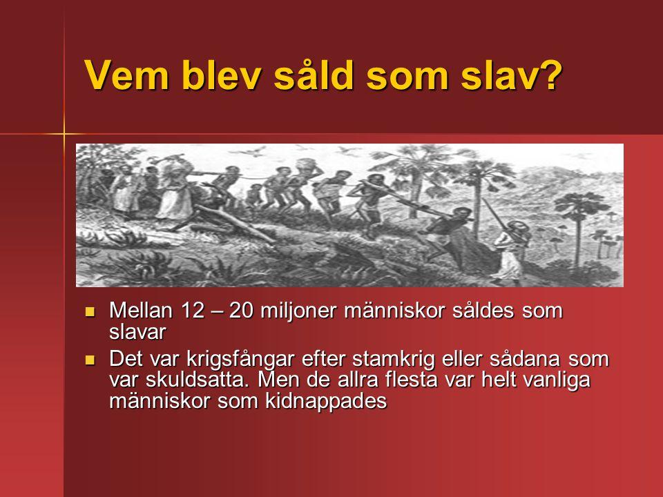 Vem blev såld som slav.
